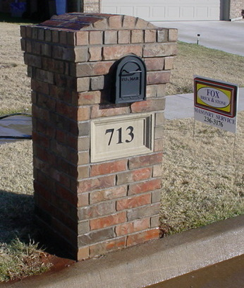Brick mailbox repair with new cast address plate